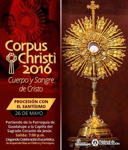 GUADALUPE SABINAS TE INVITA A CELEBRAR CORPUS CHRISTI