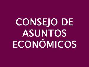 CONSEJO DE ASUNTOS ECONÓMICOS DIOCESANOS