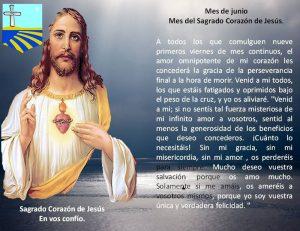 MES DE JUNIO, MES DEL SAGRADO CORAZÓN DE JESÚS