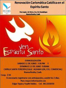 RENOVACIÓN CARISMÁTICA INVITA A LA EVANGELIZACIÓN EN GUADALUPE ROSITA