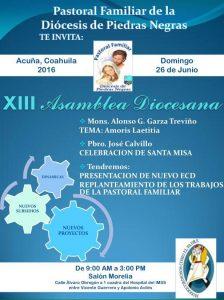 XIII ASAMBLEA DIOCESANA DE PASTORAL FAMILIAR