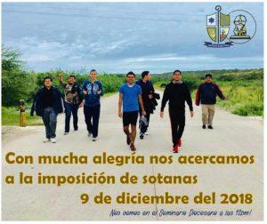 IMPOSICIÓN DE SOTANAS EN PIEDRAS NEGRAS