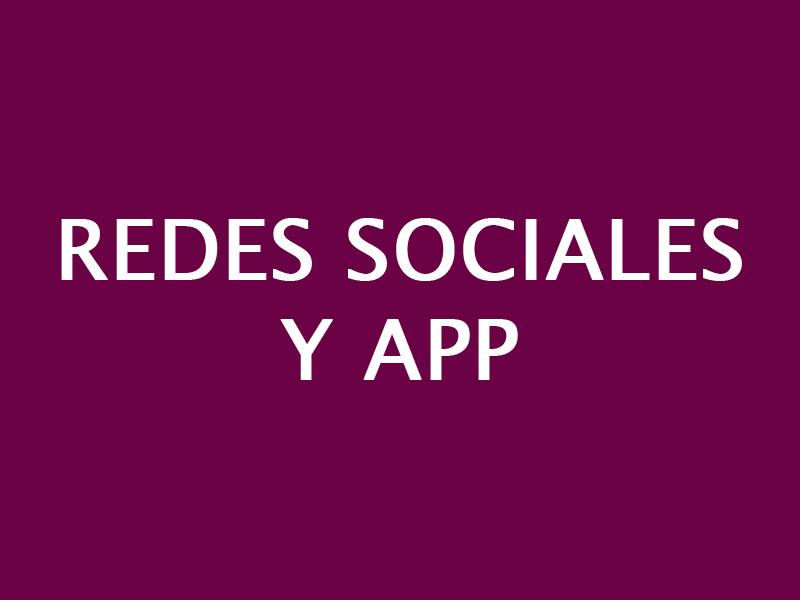 REDES SOCIALES Y APP