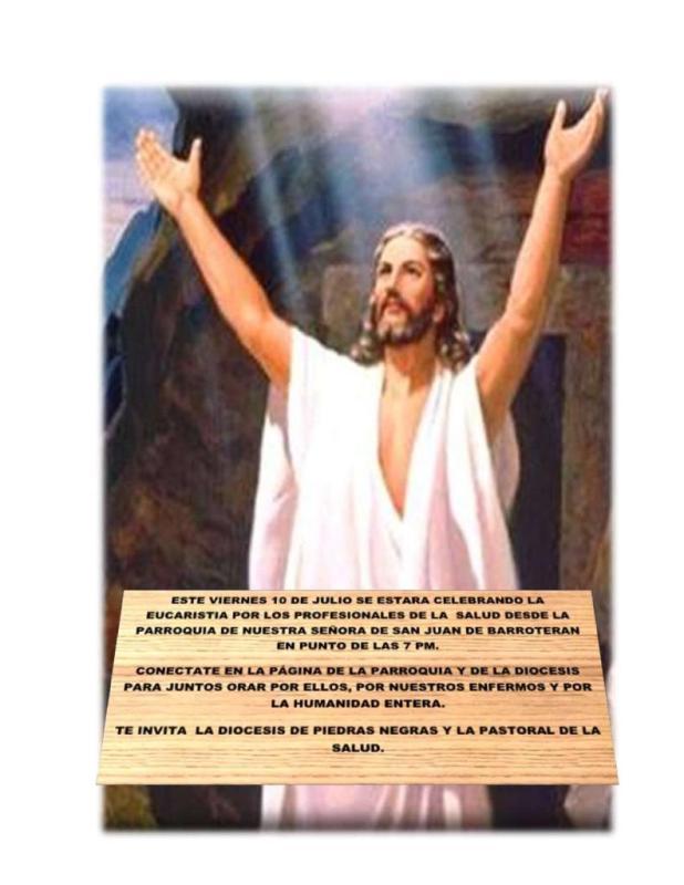 SIGUE LA TRANSMISIÓN EN VIVO DE LA MISA POR LOS PROFESIONALES DE LA SALUD