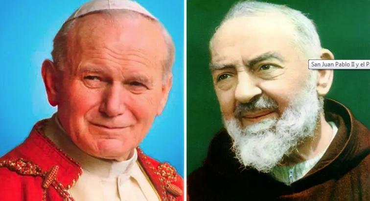 San Juan Pablo II y el Padre Pío: La historia de un milagro y una confesión