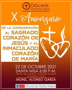 X Aniversario de la Consagración de nuestra Diócesis al Sagrado Corazón de Jesús y al Inmaculado Corazón de María